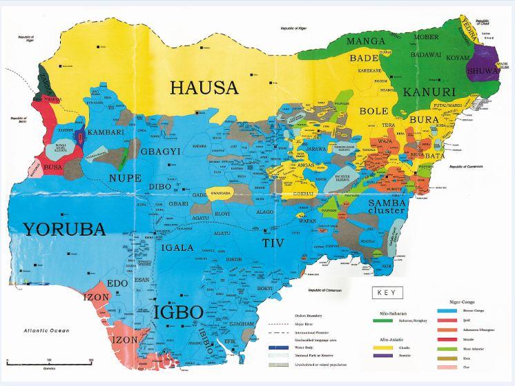 EthnicMapofNigeria Africa News Circle - Nigeria map
