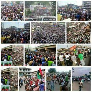Pro-Biafra demonstrators across Nigeria