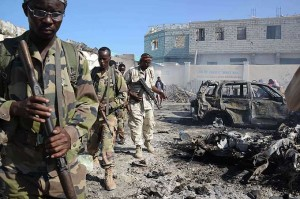 Al-Shabab claims twin suicide bombings in Somalia