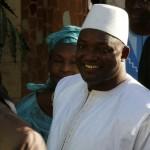 Adama Barrow sworn in as Gambia's president in Senegal