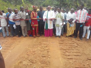 Archbishop Ekuwem performs ground breaking of 24-km community road in Mkpot