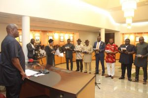 Gov. Wike Swears-In Newly Elected LG Chairmen in Rivers State