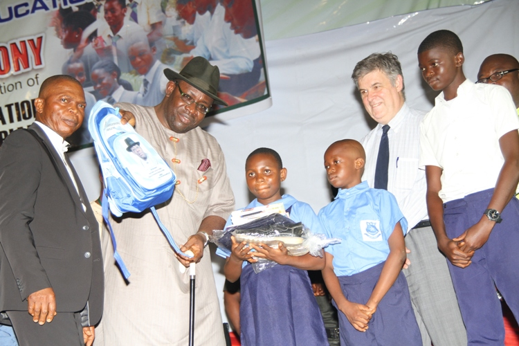 Bayelsa government distributes free school uniforms, books, and other educational materials to schools, award N550M contract for more text books and uniforms