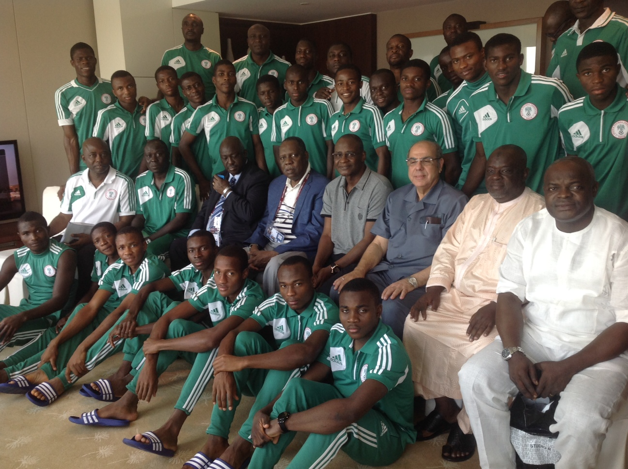 MANU  Says NO Fear Over Sweden, As Hayatou Charges Eaglets To 'Write Your Names in Gold'