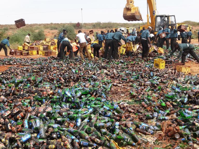 Illegal Sharia Police Destroys 240, 000 Bottles of Beer in Nigeria