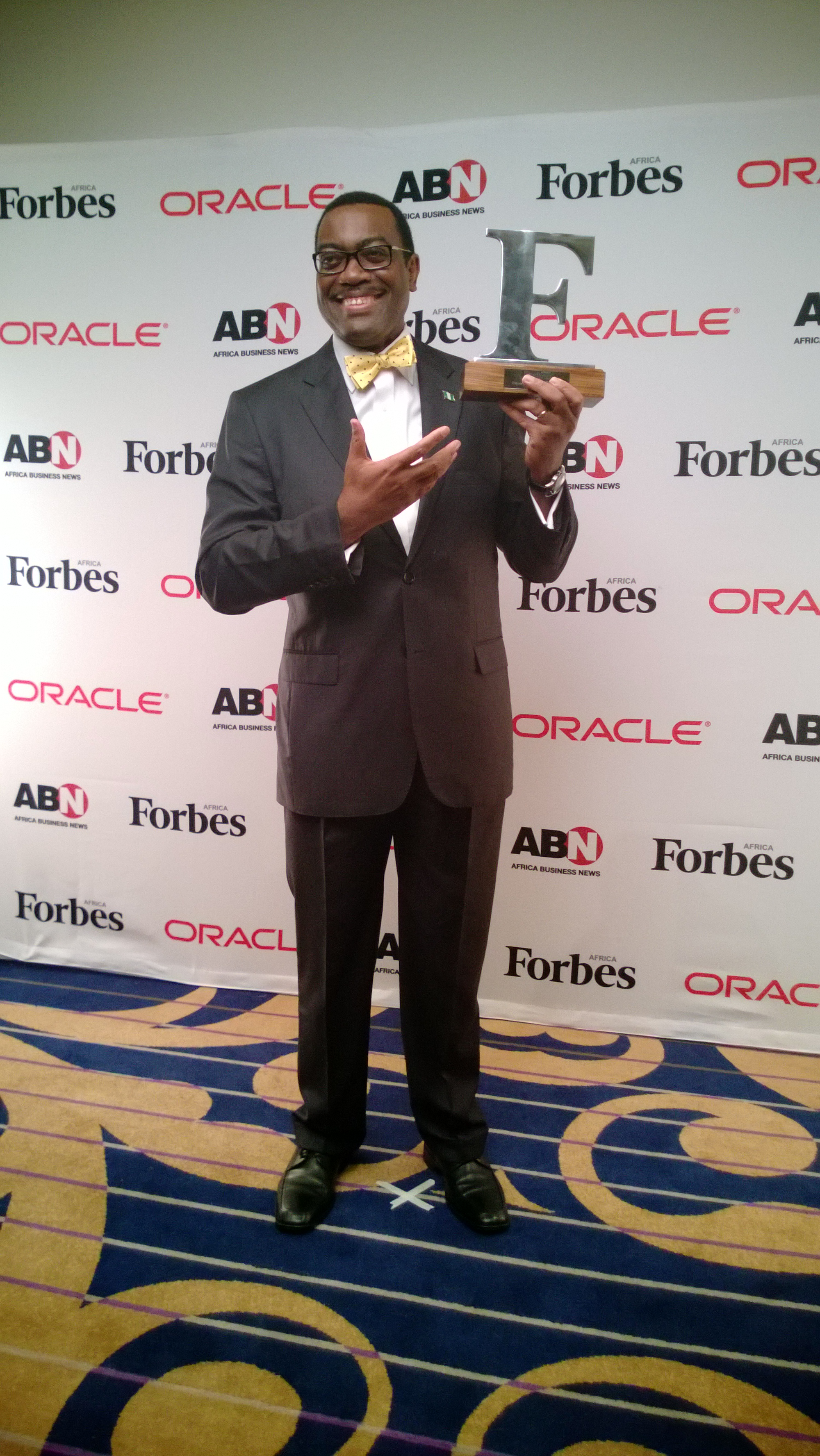 Adesina Accepts Forbes Award, hinges Africa's Progress on Agricultural Reforms