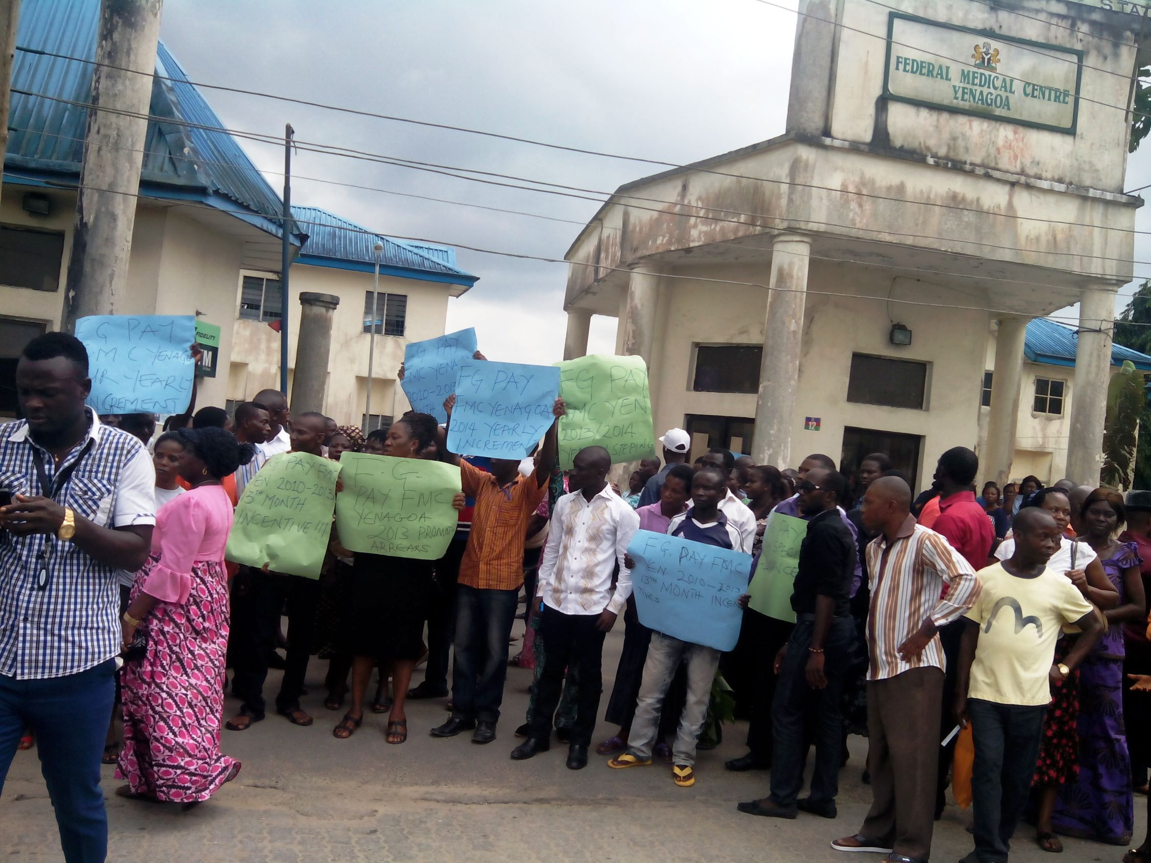 Health Workers Strike Shuts Down Federal Medical Centre Yenagoa