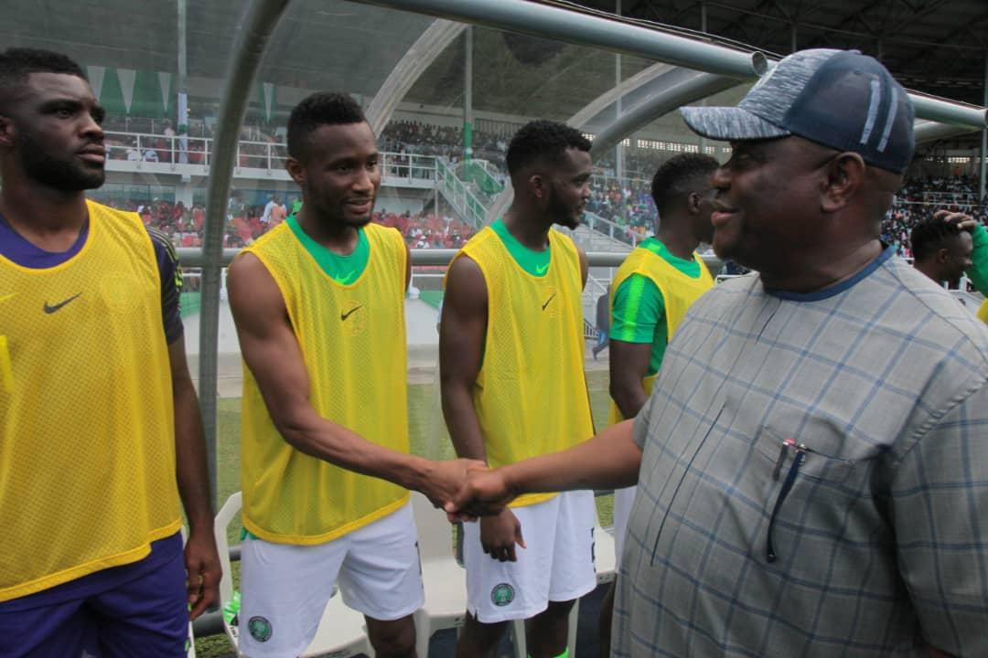 Governor Wike Joins Soccer Fans To Send Off Super Eagles To Russia 2018
