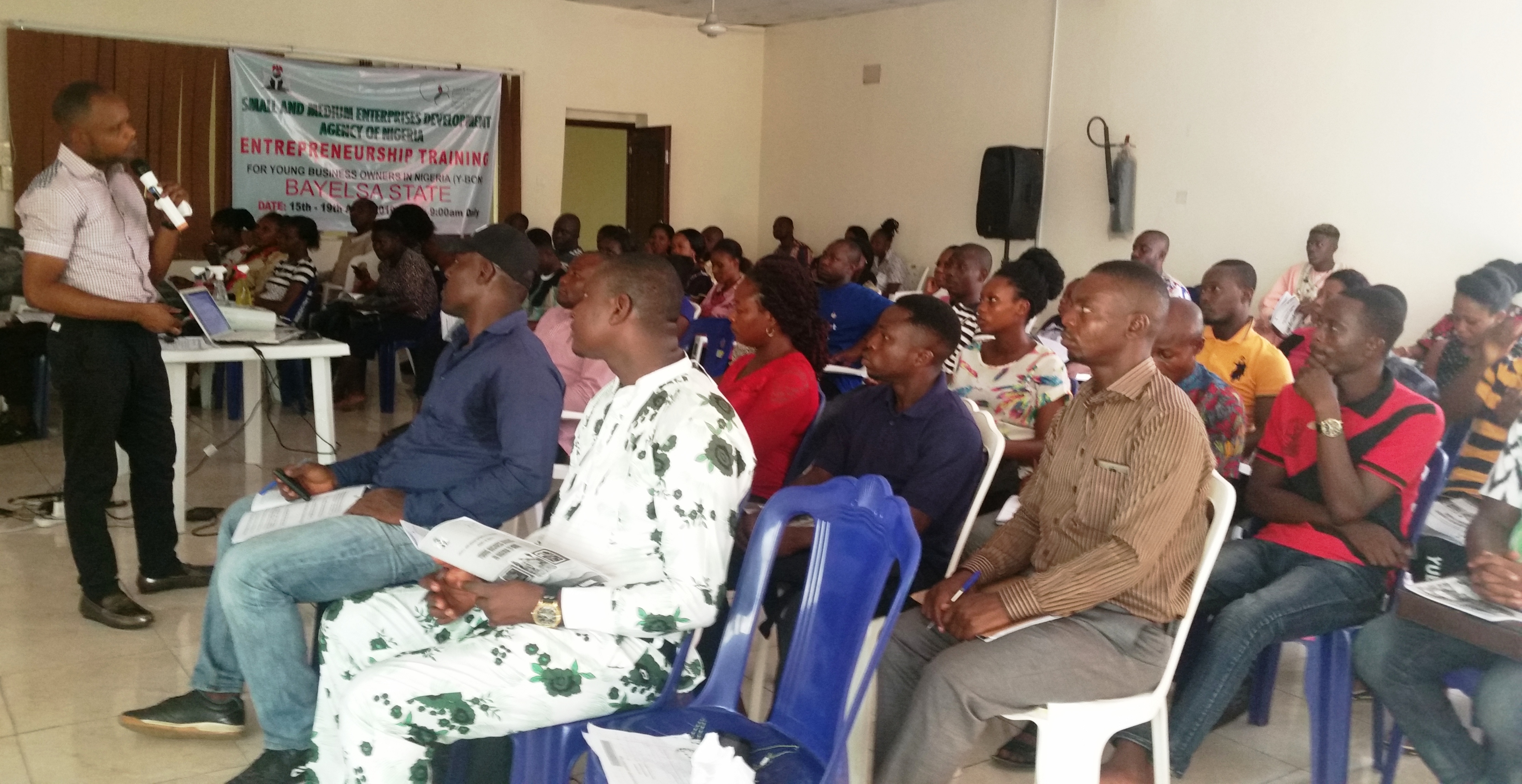 SMEDAN Commences Entrepreneurship Training For 104 Yonng Business Owners In Bayelsa