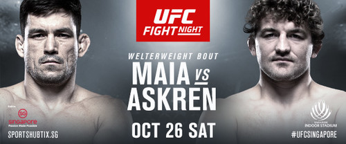 UFC Returns to Singapore with Thrilling Matchup between Demian Maia and Ben Askren