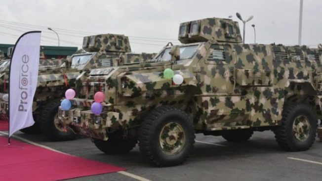 Army Shows Off Its Latest Made-In-Nigeria Mine And Bomb Resistant Vehicles