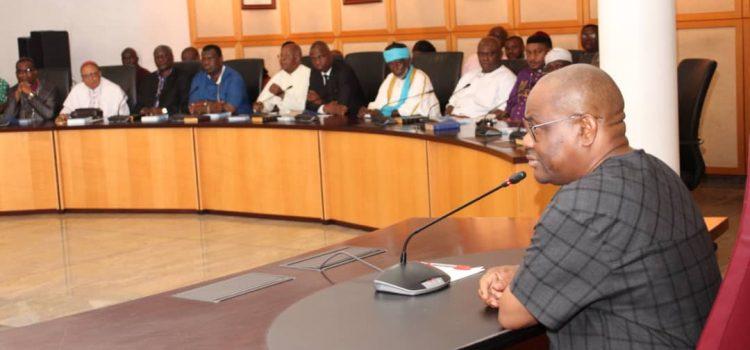 Coronavirus: Governor Wike Meets Religious Leaders