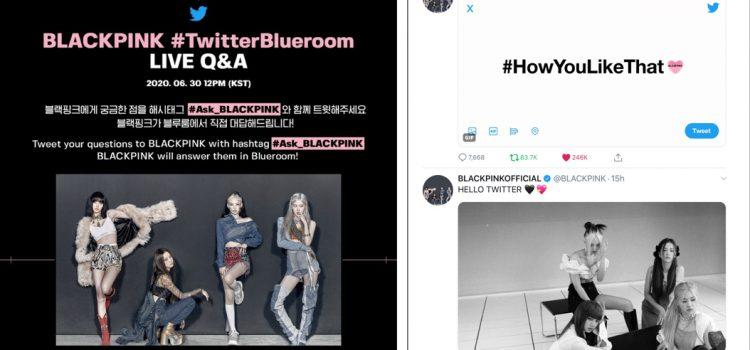 #BLACKPINK LIVE comeback party on #TwitterBlueroom