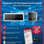 Ariston: Singapore's First-ever WiFi-enabled Smart Water Heater Now Complete with Full Range and Design to Fit Any Bathroom Design