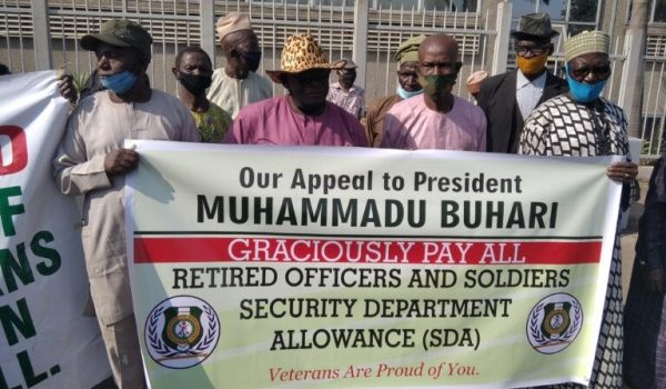 Retired Soldiers Protest In Abuja