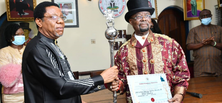 Wike Presents Certificate Of Recognition And Staff Of Office To Two Traditional Rulers