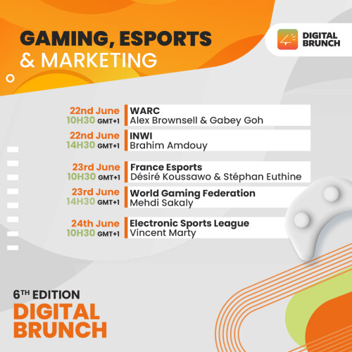 The 6th edition of the Digital Brunch, Under the theme: Gaming, Esports & Marketing in Middle East and Africa